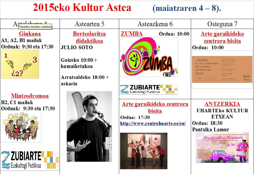 2015eko kultur astea