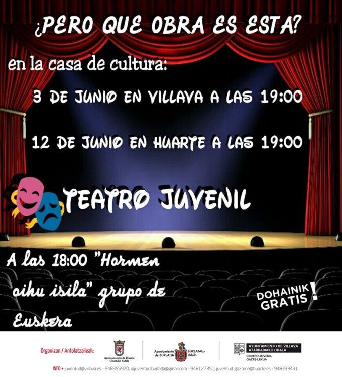 cartel taller teatro castellano
